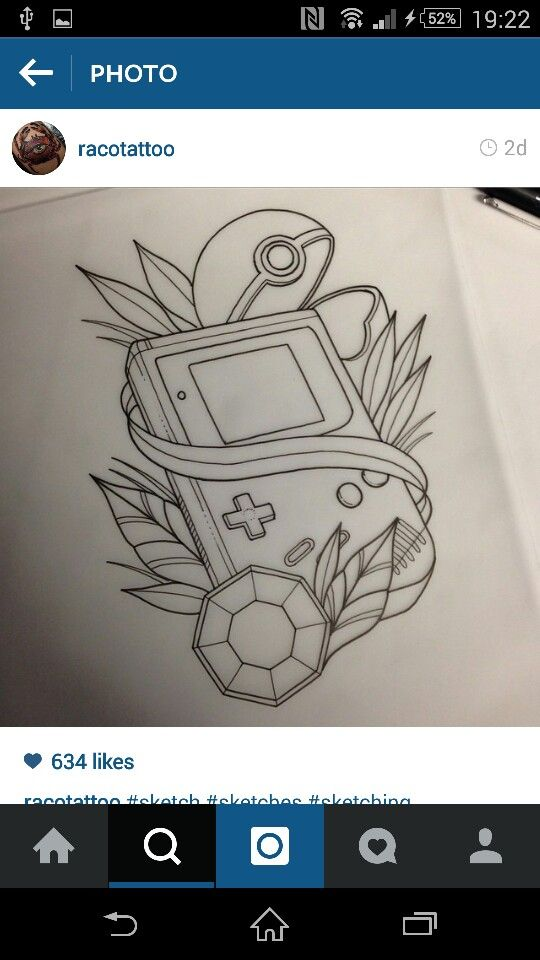 Gameboy pokemon  Tattoo