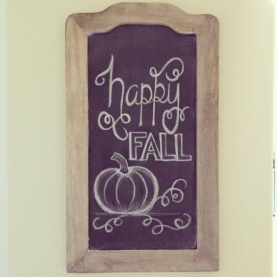Fall Chalkboard Art - mint and honey design #chalkboardart #thanksgivingchalkboardart #worldmarket