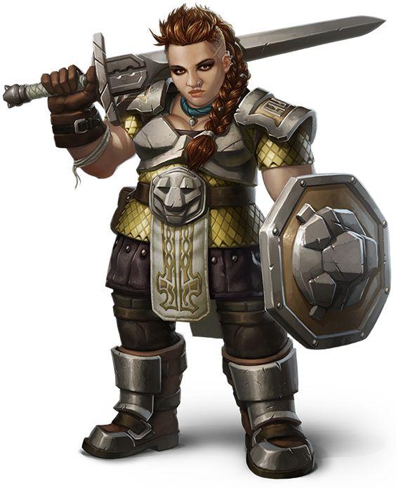 SARSEL TORGWYN - Fighter ( battle master) / Barbarain (way of the totem warrior) - dwarf female