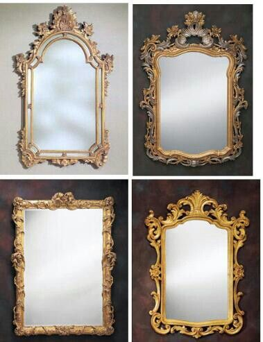 Old frame mirror
