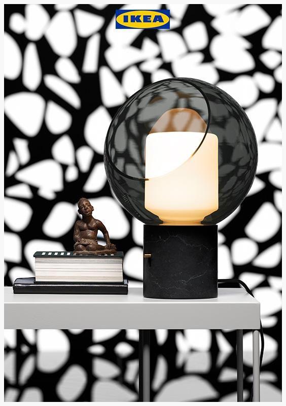 Evedal Table Lamp Marble Grey Globe Grey Globe Ikea Ireland Grey Table Lamps Lamp Table Lamp