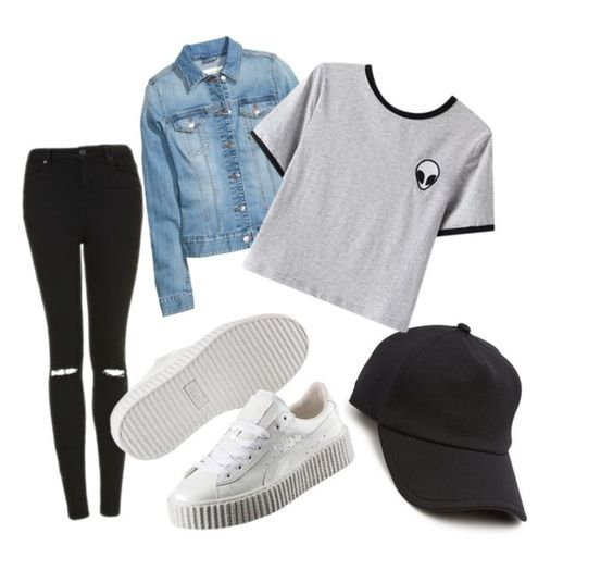 """SCHOOL PUTFITS"" by dany-cro on Polyvore featuring Topshop, rag & bone, Chicnova Fashion and Puma"