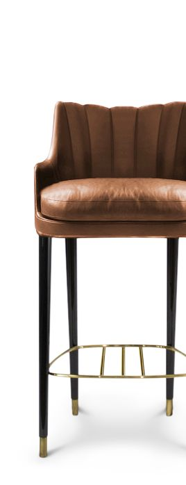 Bold colors bar and design on pinterest for Luxury leather bar stools