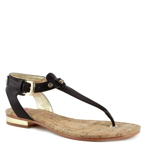 Elaine Turner Spring 2013 Kenya Collection - Mara Sandal in Black leather with studs!!