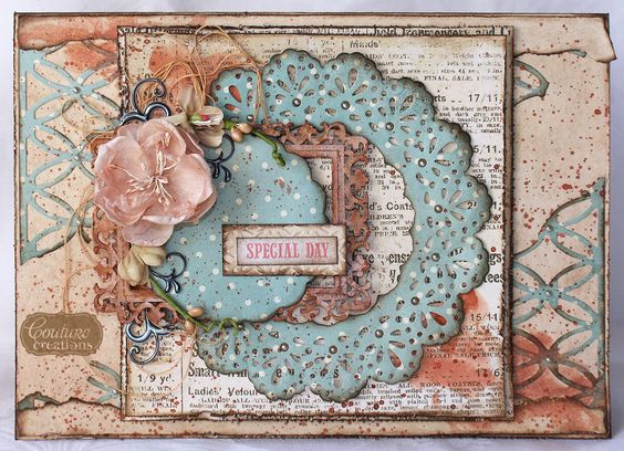 Couture Creations: Special Day by Patricia Basson | #couturecreationsaus #ornamentallacedies #doilydies #cards #shabbychic #vintage: