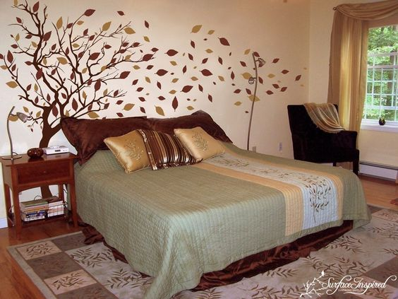 : Decals Large, Art Decals, Ideas For Rooms, Fall Trees, Autumn Trees, Treehouse Bedroom, Bedroom Ideas