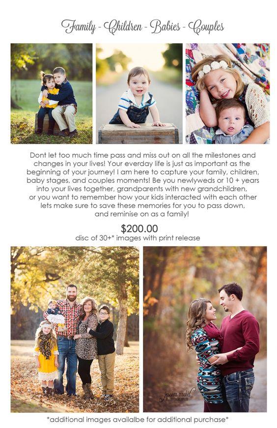 Family-Children-Babies-Couples Rates & Information » Jessica Rachel Photography Blog