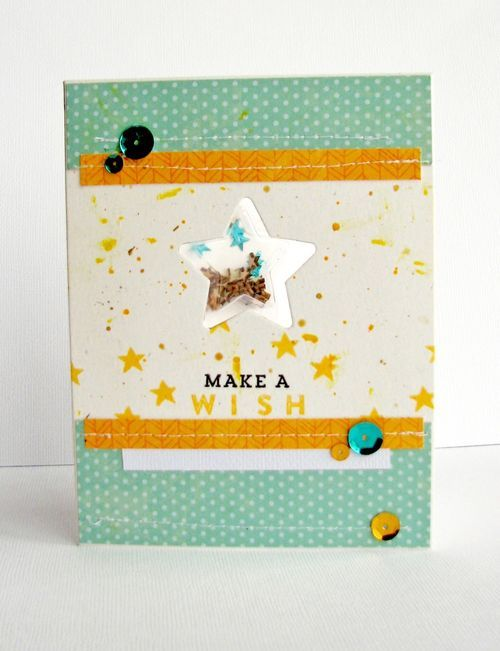 Make A Wish Card by Nicole Nowosad featuring Jillibean Soup Shape Shakers: