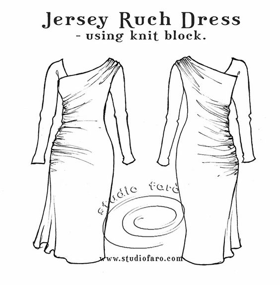 well-suited: Pattern Puzzle - Jersey Ruch Dress.   What gorgeous dress.  Not sure if this should be in inspiration or to be made.  Would also be great with a plain lining and a sheer overlay.  Yum, yum, yum.