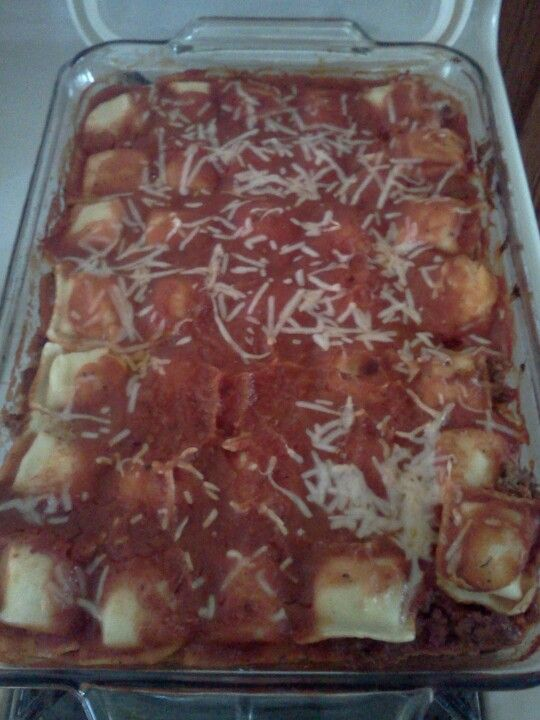 ... ground beef lasagna meat beef spinach frozen sauces simple tops the o