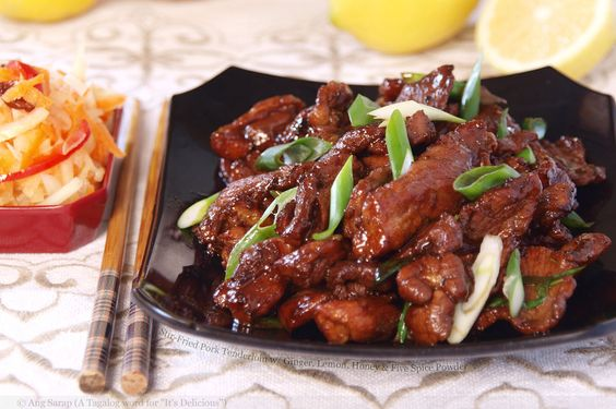 Stir Fried Pork Fillets with Honey and Ginger