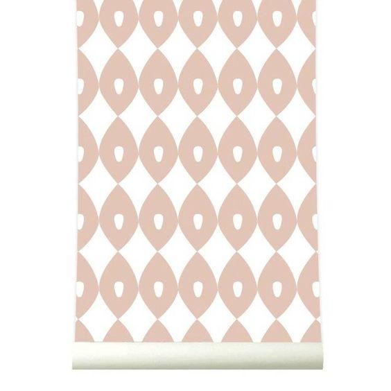 Het behangpapier 'Blossom' werkt erg inspirerend in huis, de zachte roze kleur staat in iedere kamer mooi!