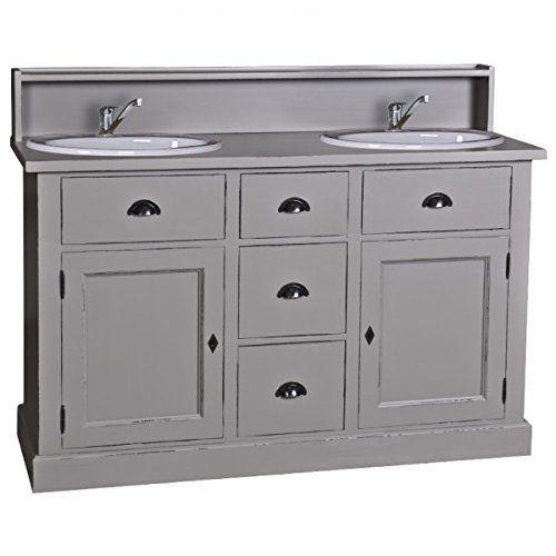 Doppelwaschtisch Landhaus. Der Waschtisch hat drei Schubladen. Die ... | {Doppelwaschtisch mit unterschrank landhaus 2}