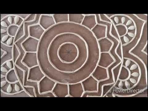Lippan Kaam Mud And Mirror Work Youtube Lippankaam Clay In 2020 Mirror Work Mirror Art Clay Art