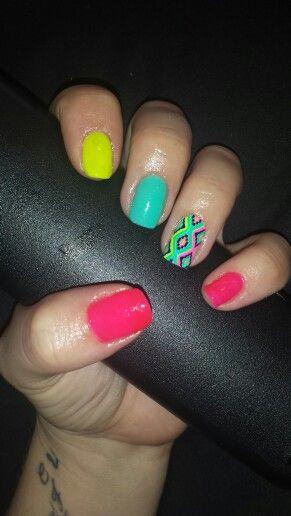 Ongles neon + deco pronails