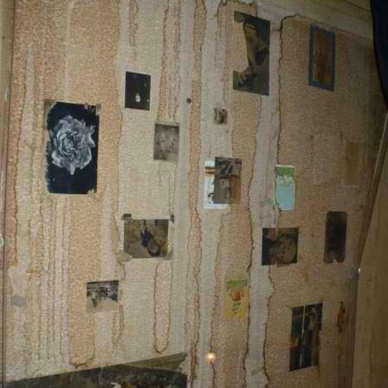 Anne Frank's bedroom wall in Amsterdam