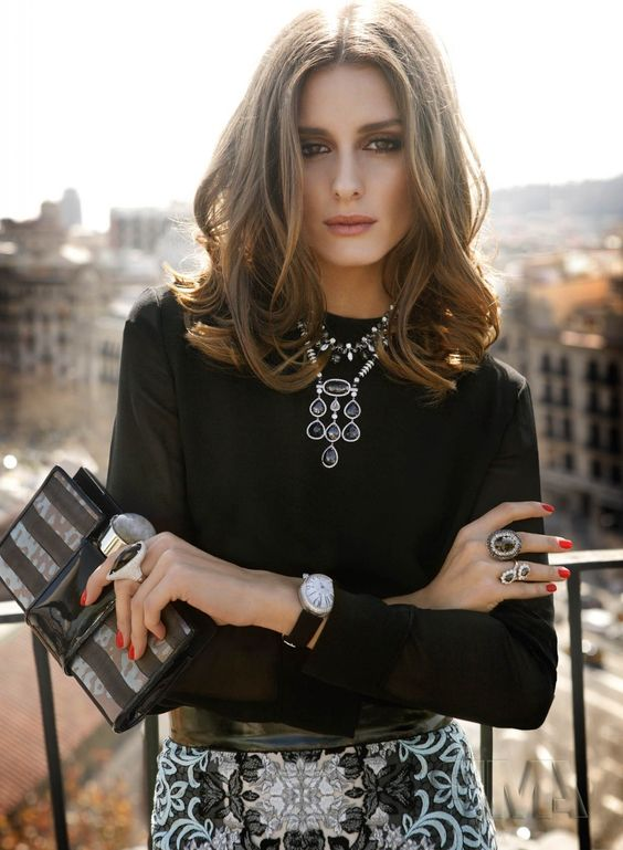 OP l Promod Oliviapalermo, Statement Necklaces, Fashion Style, Beautiful, Style Icons, Hair Style, Fall Outfit, Olivia Palermo, Rabat Magazines