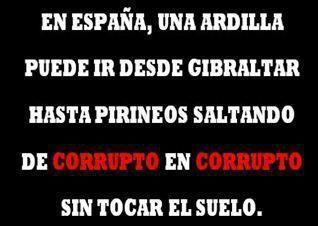 La densidad de corrupción en España.....