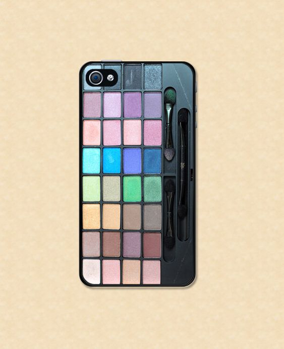 Funda Iphone 4 Iphone de maquillaje paleta de por HappyWallz