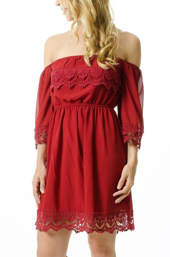 Crimson vs maroon color dresses