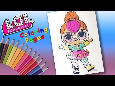 Lol Doll Coloring Book Forgirls Cosplay Club Neon Q T Coloring Page Forkids Youtube Minnie Mouse Coloring Pages Shopkin Coloring Pages Donut Coloring Page