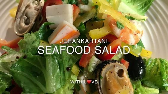 سلطة بحرية صحية Healthy Seafood Salad جمبري جامبو بقشرته منقوع لمدة ساعة في خل تفاح عضوي وثوم مهروس وماء ومن Healthy Recipes Seafood Salad Recipes