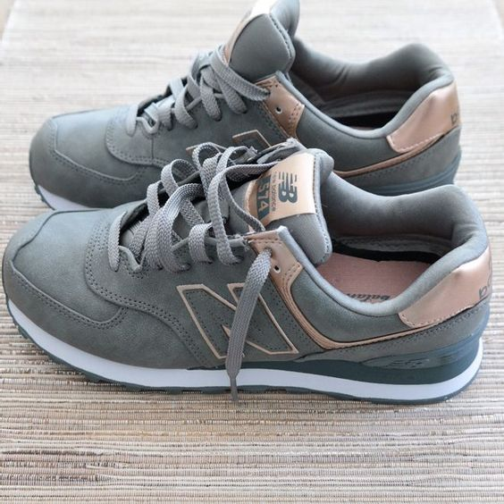Pinterest: /Cleermartin/ New Balance Metallic 574 Sneakers | Modish and Main... Just copped these and I