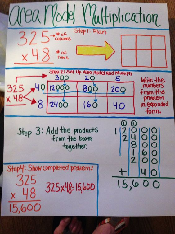 area model multiplication anchor charts pinterest models math meeting and 5th grades. Black Bedroom Furniture Sets. Home Design Ideas