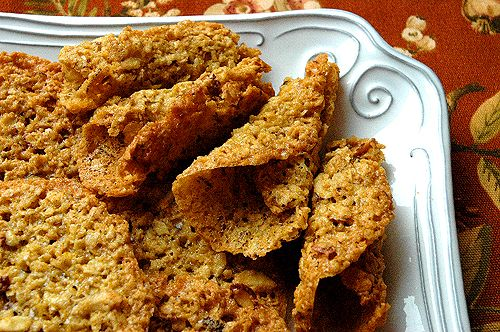 Oat 'n' Almond Lace Cookies | Cookie Monster | Pinterest | Almonds ...