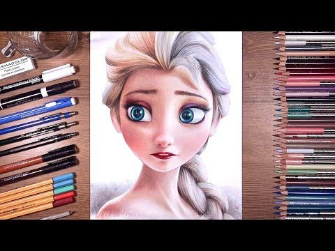 Below Step 1 We Will Start By Creating The Shape Of Elsa S Guide Then Her Body And Shoulders Sketch In The Face Guide Frozen Drawings Elsa Drawing Drawings
