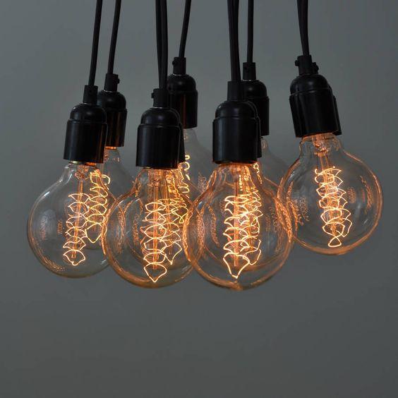 Vintage large globe filament light bulb