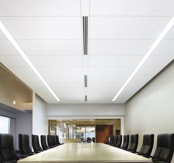 Armstrong Chilled Ceiling System Institutional Design Office Break Room And