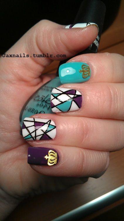 geometric nails #nail #unhas #unha #nails #unhasdecoradas #nailart #geometrico #colorido #colorful
