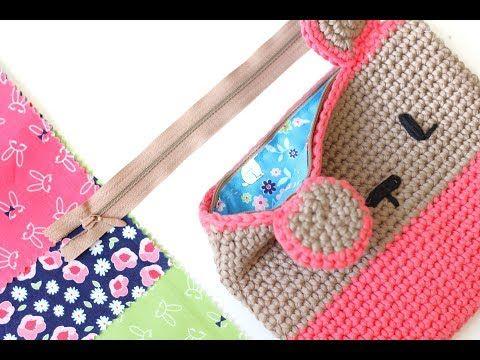 Cómo Poner Forro Y Cremallera A Un Proyecto De Punto O Crochet Youtube Croché Bolsos De Ganchillo Crochet Monederos