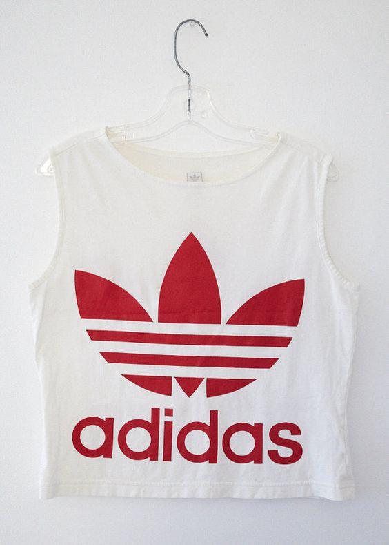 ADIDAS Vintage Logo Crop Top | Follow me, Olivia d'abo and ...