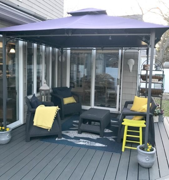 Best Way To Anchor A Gazebo Without Damaging The Deck Gazebo On