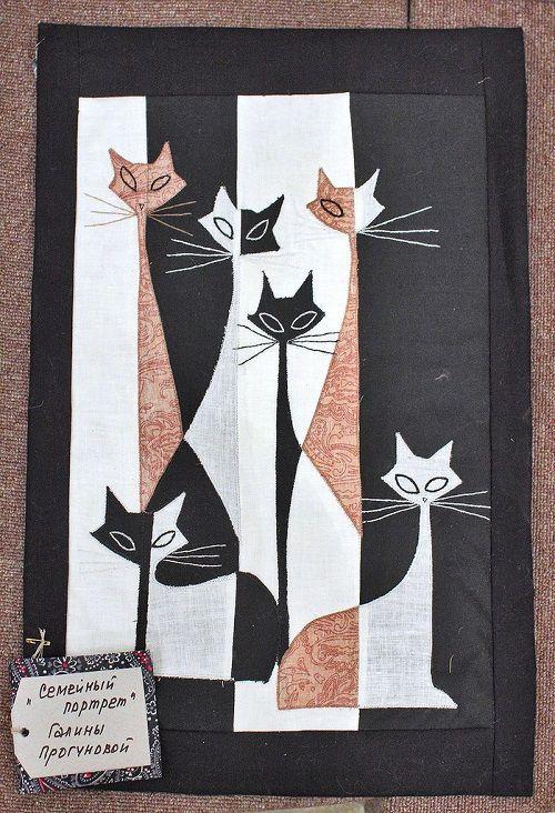 Ann Quilts: cat quilt: