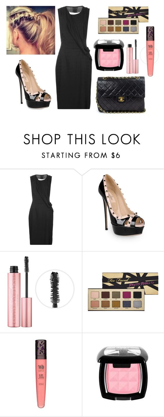 """""""No Strings"""" by megschritt ❤ liked on Polyvore featuring Maison Margiela, Valentino, Too Faced Cosmetics, Urban Decay, NYX and Chanel"""