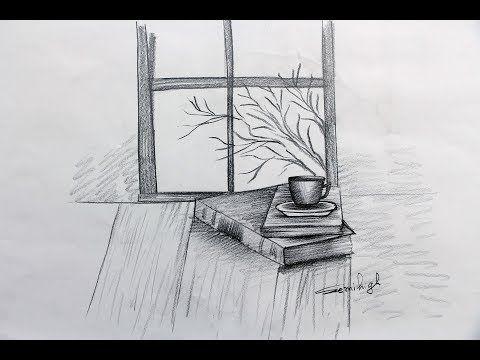 How To Draw Amazing Window Scenery Step By Step Pencil Sketch Youtube Drawing Tutorial Window Sketch Pencil Drawing Tutorials