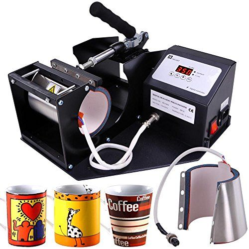 4 Programs Digital Cup Heat Transfer Press Sublimation Machine Coffee Latte Mug - Commute Coffee