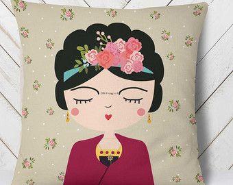Frida Kahlo almohada almohada moderno vivero Boho por hangAprint