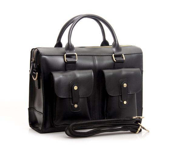 Handmade Genuine Leather Briefcase Laptop Messenger Bag in reddish brown Hard Cowhide 02