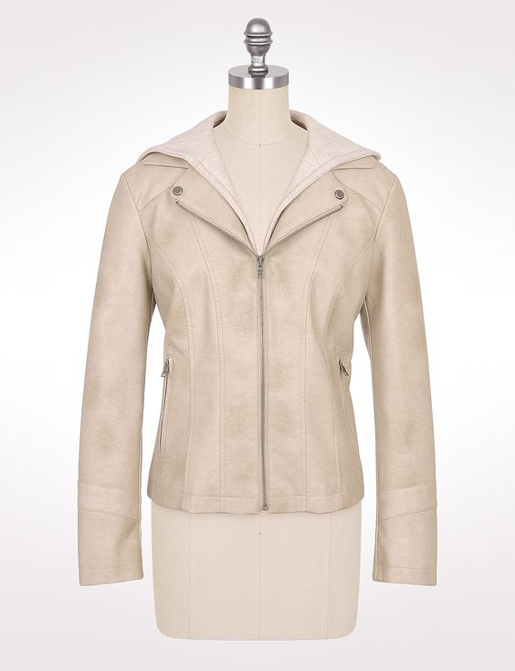 Misses | Jackets & Coats | Faux Leather Jackets | Roz & ALI Hooded ...