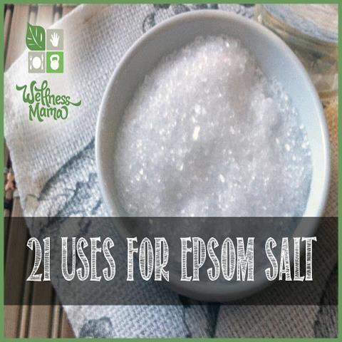 21 Uses For Epsom Salt Bath Salts Salts And Natural Health