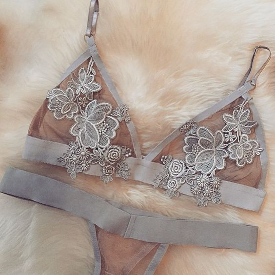 Just in, The Florette Bralette and Thong #forloveandlemons #downtoyourskivvies #newarrivals: