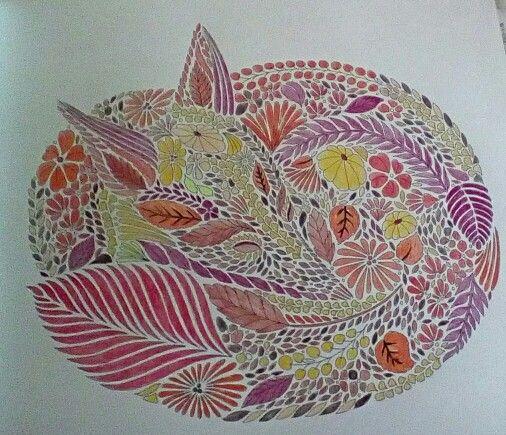Animal Kingdom Coloring Book Fox Millie Marotta Done In Pencils