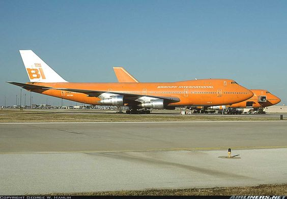 Braniff International Airways - Boeing 747-127 at Dallas / Fort Worth International Airport, Texas, October 11, 1981. (Photo copyright George W. Hamlin on Airliners.Net)   Viewliner Ltd.: Aviation