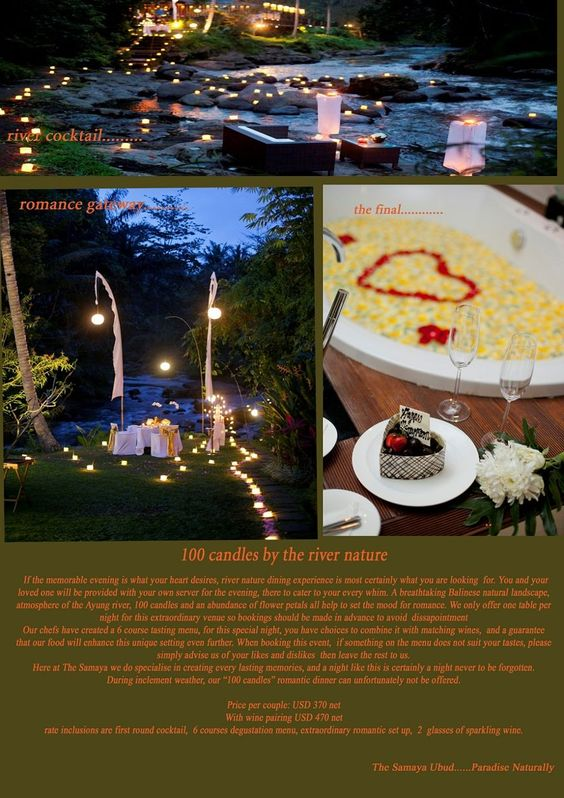 The Samaya Villas Bali, Ubud Bali - Special Offer... The candles are part of a package :/ ummmmmmm