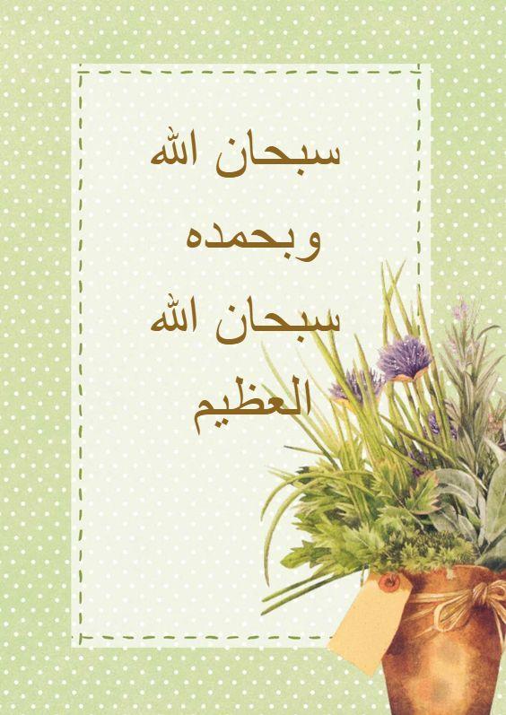 سبحان الله وبحمده سبحان الله العظيم Book Cover Cover Pics