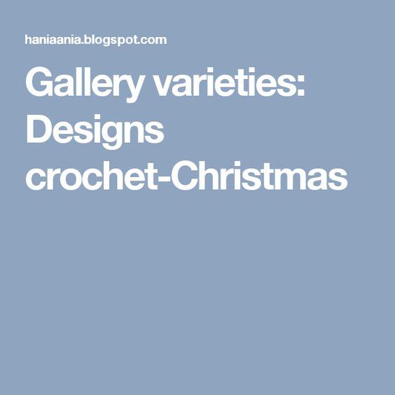 Gallery varieties: Designs crochet-Christmas